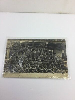 Photo Postcard Ww1 France Group Of Military Soldiers