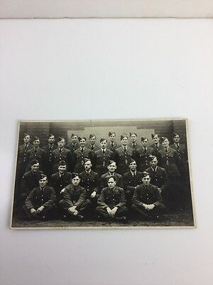 Wwi Military Carte Postale  Photo Group Of Soldiers Postcard Sent To His Spouse