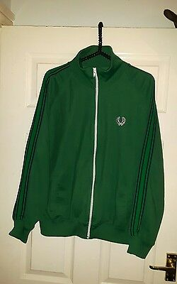 """mens vintage fred perry tracksuit jacket size large chest 44"""" vgc"""