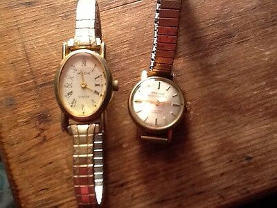 Vintage ladies Montine 17 jewels incabloc, plus one other Montine  watch