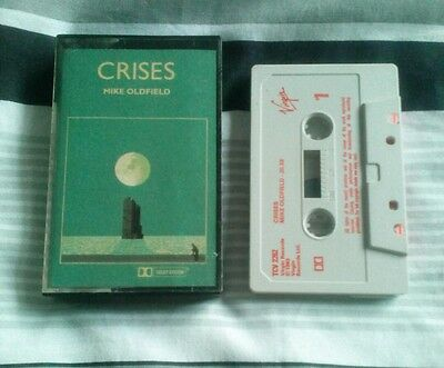 mike oldfield crises cassette tape