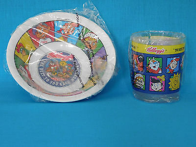"""Kellogg""""s Tiger Cereal Bowl & Drinking Cup ~ Promotional 1996 ~ NEW IN WRAPPERS"""