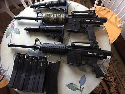 Two T68 Paintball Markers  Rap4 With Cases And Magazines