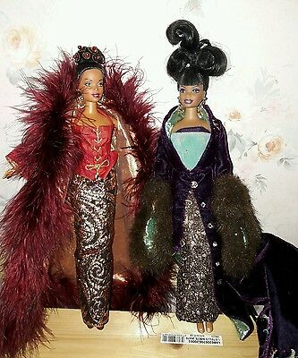 lot barbie 90s plum royale byron lars cinnibar collection collector afro black
