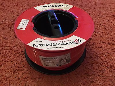 FP200 GOLD PRYSMIAN 1.5mm 2 Core and Earth Fire Alarm Cable Red 100M