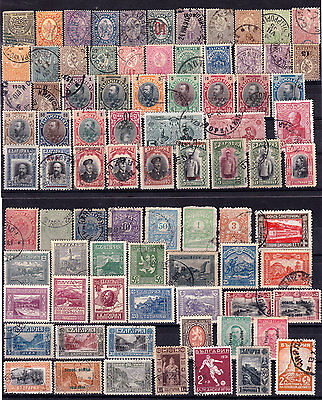BULGARIA - Lot of 82 different CNC stamps 1892/1921