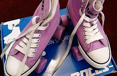 Roces quad skates.  lilac size 2 in box. immaculate