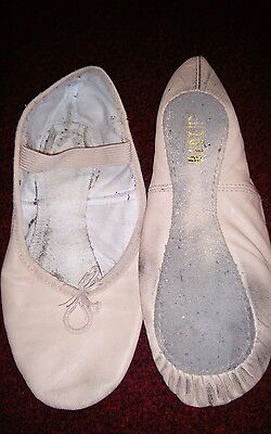 pink bloch ballet shoes. size 3.5. used