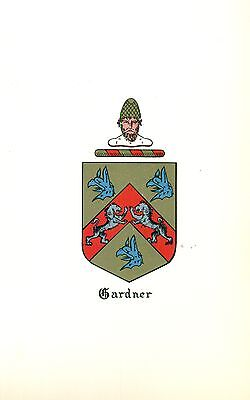 *Great Coat of Arms Gardner Family Crest genealogy, would look great framed!