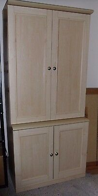 2 Maple Cupboard - Excellent Condition - See Our Listing Of Matching Drawer Unit