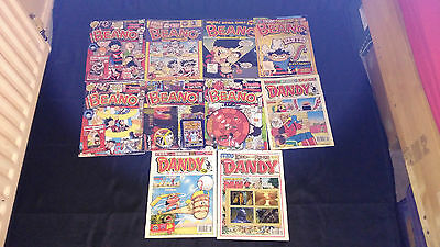 Dandy And Beano Comic Joblot X 10 Joblot/Bundle  All with Free Gifts 2000's Vint