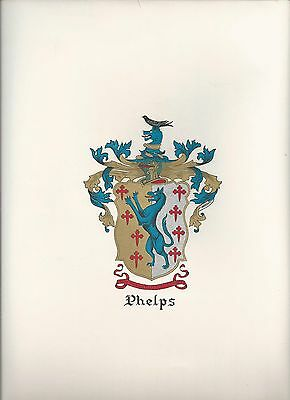 *Great Coat of Arms Phelps Family Crest genealogy, last one!