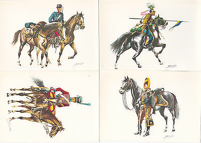 4 Spanish Military postcards Spain