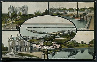 Wigtownshire - Stranraer Multiview Postcard - Posted 1927