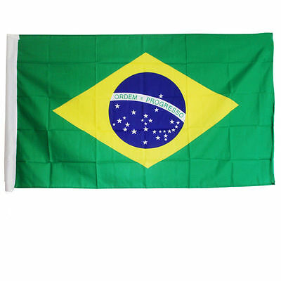 New 3X5 FT BRAZIL FLAG BRAZILIAN FLAGS COUNTRY NEW BANNER 90x150CM