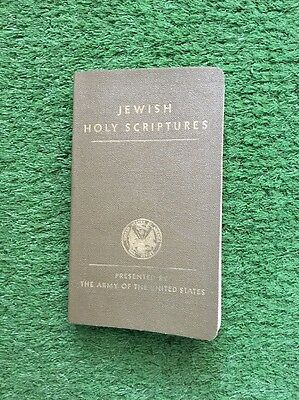 WW2 US Jewish Holy Scripture Pocket Bible 1942 Dated