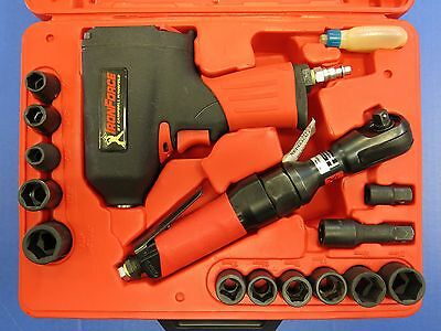 Campbell Hausfeld Iron Force Impact Wrench IFT202 & Air Ratchet IFT101 in Bundle