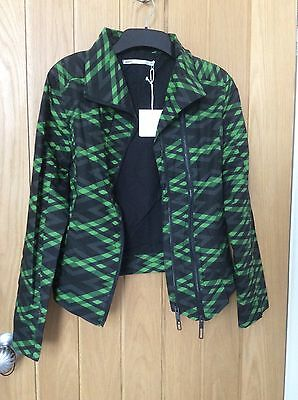Ladies Umbro Black And Green Sports Jacket Size Small