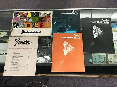 Collection of Vintage Fender 60s and 70s Full line Price Lists