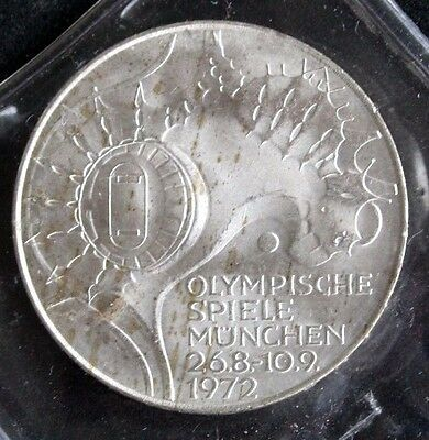 Germany 1972D 10 Marks Olympic Stadium UNC Silver