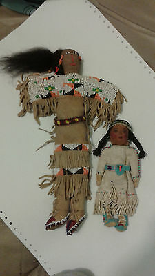 2 Sioux Plains Dolls circa 1900-1920 Native American (2 Dolls-1 Price)