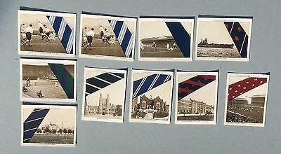 10 Cigarette Cards Churchman Well Known Ties A & 2nd Series
