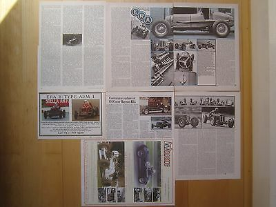 ERA & HRG Racing Cars - Reports & Adverts inc. Raymond Mays , 12+ pages