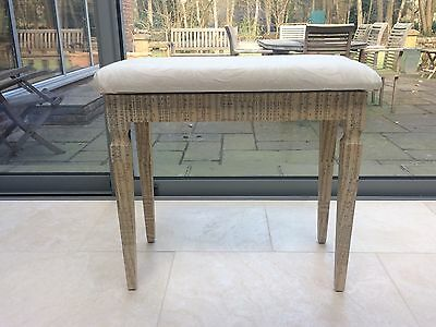Large Padded piano stool seat Bench With storage decoupaged Vintage Upcycled.