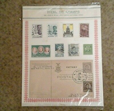 Rizal on Stamps - Philippines stamp set
