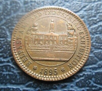 1895 Belfast Art & Industrial Exhibition Medal, Small 19mm, BHM3486