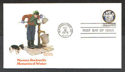 Norman Rockwell Us Fdc 1978 Christmas 15C Fleetwood First Day Of Issue Cover-C