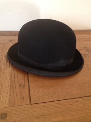 Vintage Black Ladies Riding Bowler Hat