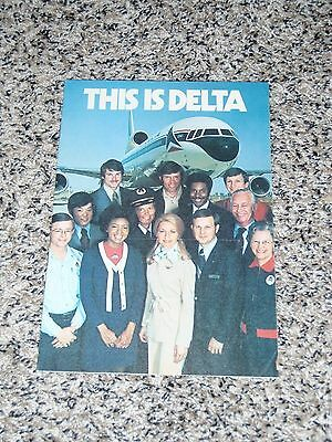 "Old ""this Is Delta"" Brochure - Circa 1975"