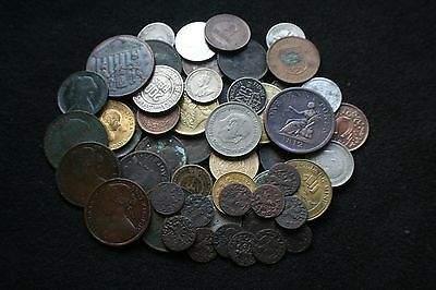 lot of coins and tokens