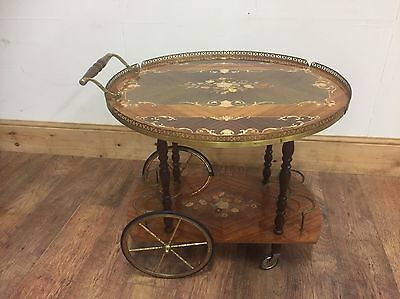 #52 Stunning Vintage Lacquered Italian Drinks Buffet Or Tea Trolley