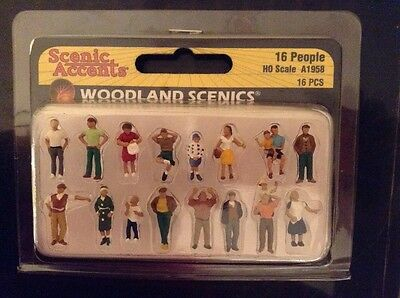 Woodland Scenics A1958. People. Pack Of 16. HO/OO Scale.