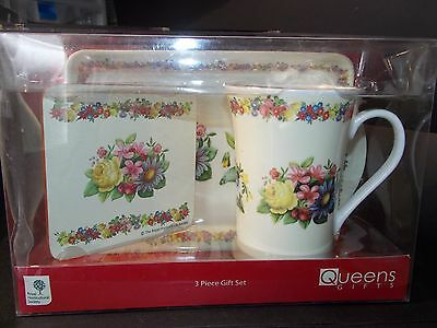The Royal Horticultural Society mug coaster and tray boxed