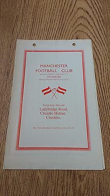 Manchester v Sale 1969 Rugby Union Programme