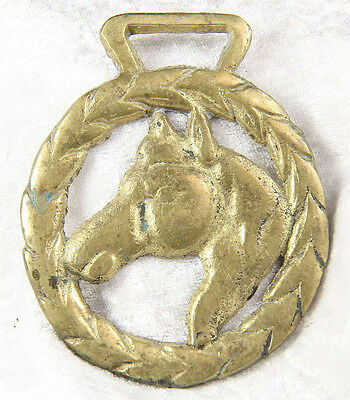 A horse brass featuring horse pony 3  inches tall collectable equine riding no 2