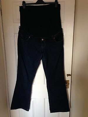 New Look Blue Maternity Over The Bump Jeans Size 16