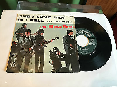 "The beatles ""And I Love Her"" Italy  QMSP 16365 Parlophon 1964"
