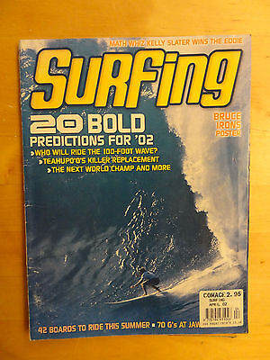 Surfing Magazine Volume 38 Number 6 April 2002 Surf Mag Surfing Book Back Issue