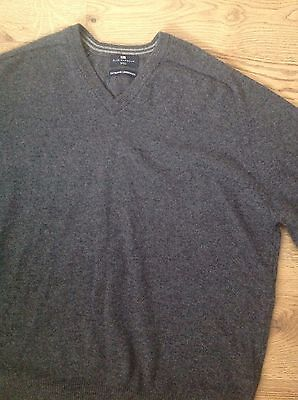 Mens Blue Harbour Grey Sweater Size Xl