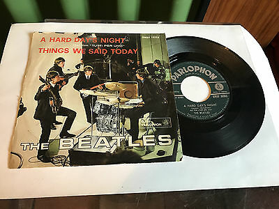 """The beatles """"A Hard Day's Night"""" Italy  QMSP 16363 Parlophon 1964"""
