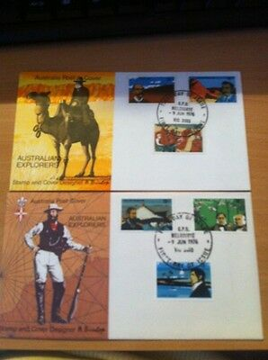 Australia 1976 19th Century Explorers Set  First Day Cover