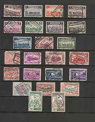 STAMP COLLECTION BELGIUM.RAILWAY.PARCEL STAMPS 1920s-LATE-1930s.