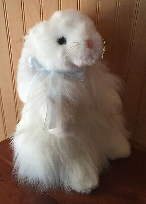 EASTER BUNNY    Ty Classic Cashmere White Long Hair  Rabbit