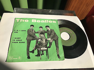"The beatles ""P.S. I Love You"" Italy  QMSP 16351 Parlophon 1964"