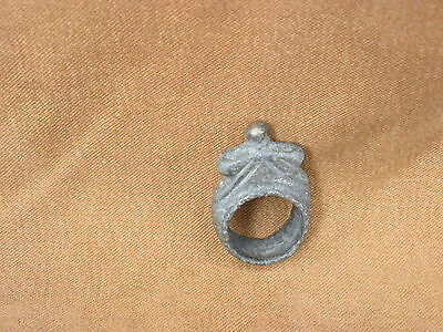 Ancient Bactrian Bronze RING C.300 BC