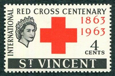 ST. VINCENT 1963 4c red and black SG205 mint MH FG Red Cross Centenary #W13